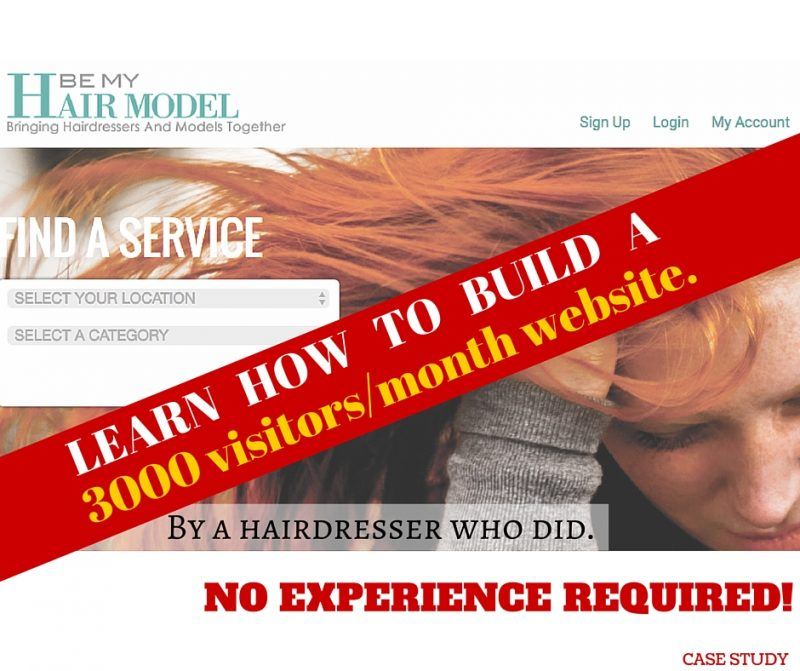 Learn how to build a 3000 visitors per month website with no experience.