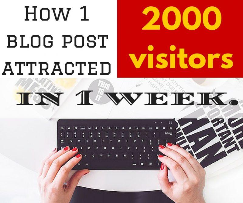 How 1 blog post attracted 2000 visitors in 1 week.