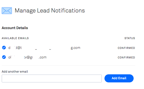 Managing lead notifications